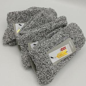 Bundle of 3 pair Black Marled Nordstrom Butter Sok